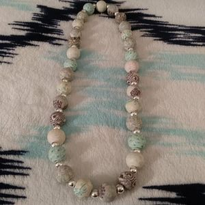 Stretch beaded necklace